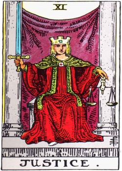 Justice Tarot Card Freemason's Deck